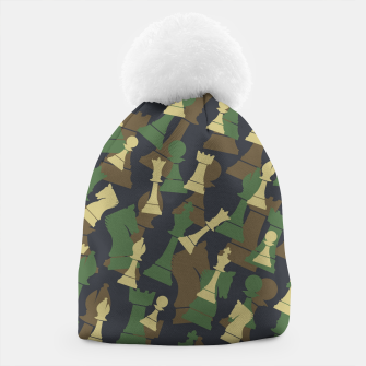 Thumbnail image of Chess Camo WOODLAND Beanie, Live Heroes