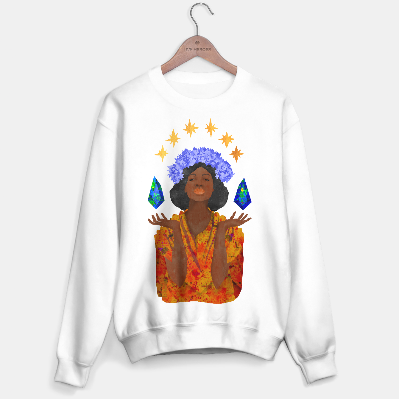 Image of Libra Sweater white - Live Heroes