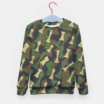 Thumbnail image of Chess Camo WOODLAND Kid's sweater, Live Heroes