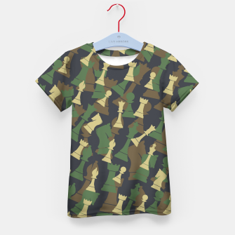 Thumbnail image of Chess Camo WOODLAND Kid's t-shirt, Live Heroes