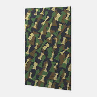 Thumbnail image of Chess Camo WOODLAND Canvas, Live Heroes