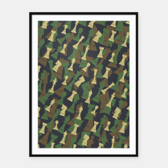 Thumbnail image of Chess Camo WOODLAND Framed poster, Live Heroes