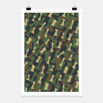 Thumbnail image of Chess Camo WOODLAND Poster, Live Heroes