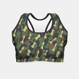 Thumbnail image of Chess Camo WOODLAND Crop Top, Live Heroes