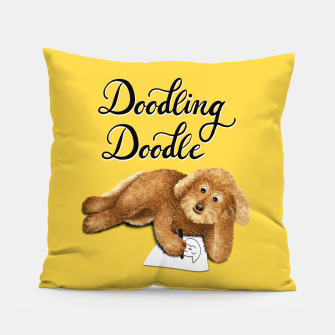 Thumbnail image of Doodling Doodle (Yellow) Pillow, Live Heroes