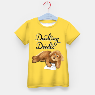 Thumbnail image of Doodling Doodle (Yellow) Kid's t-shirt, Live Heroes