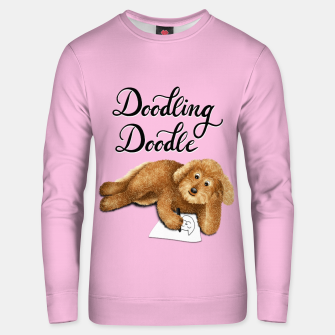Thumbnail image of Doodling Doodle (Pink) Unisex sweater, Live Heroes