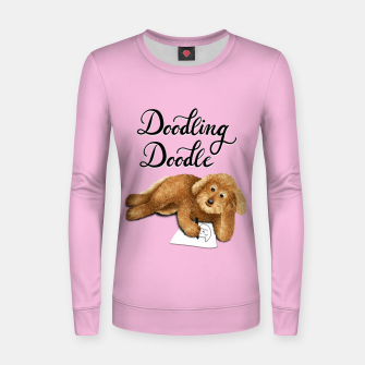 Thumbnail image of Doodling Doodle (Pink) Women sweater, Live Heroes