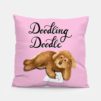Thumbnail image of Doodling Doodle (Pink) Pillow, Live Heroes