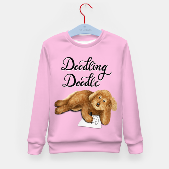Thumbnail image of Doodling Doodle (Pink) Kid's sweater, Live Heroes