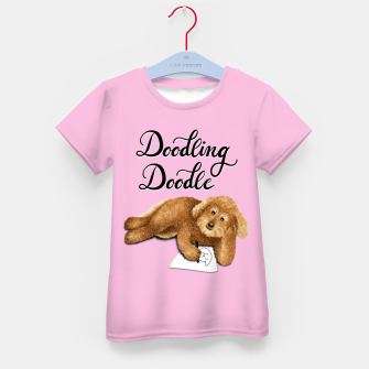 Thumbnail image of Doodling Doodle (Pink) Kid's t-shirt, Live Heroes