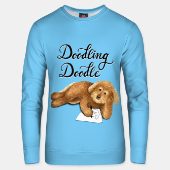 Thumbnail image of Doodling Doodle (Blue) Unisex sweater, Live Heroes