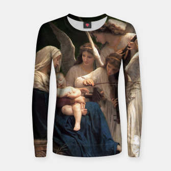 Thumbnail image of The Angels by William Adolphe Bouguereau Women sweater, Live Heroes