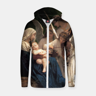 Thumbnail image of The Angels by William Adolphe Bouguereau Zip up hoodie, Live Heroes