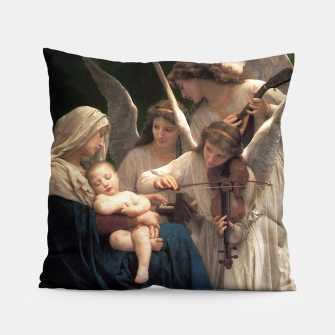 Thumbnail image of The Angels by William Adolphe Bouguereau Pillow, Live Heroes