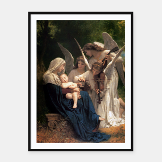 Thumbnail image of The Angels by William Adolphe Bouguereau Framed poster, Live Heroes