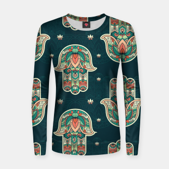 Thumbnail image of Abstract Flowerss Women sweater, Live Heroes