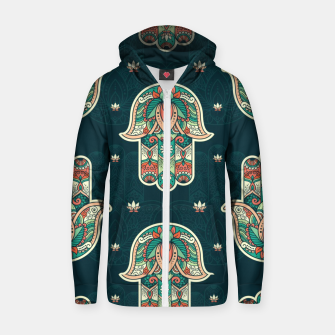 Thumbnail image of Abstract Flowerss Zip up hoodie, Live Heroes