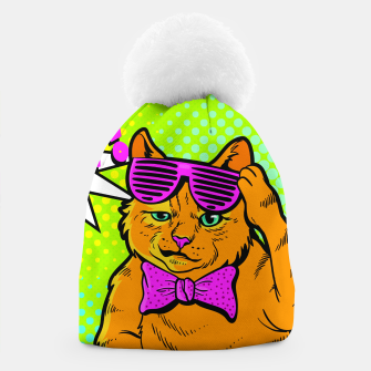 Thumbnail image of Smile Cat Pop Art Beanie, Live Heroes