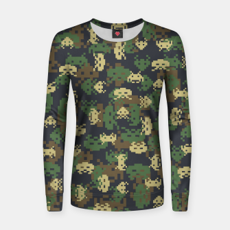 Invaded Camo WOODLAND Gamer Women sweater thumbnail image