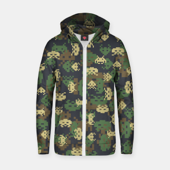 Invaded Camo WOODLAND Gamer Zip up hoodie thumbnail image