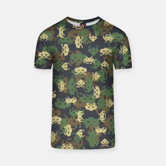Invaded Camo WOODLAND Gamer T-shirt thumbnail image