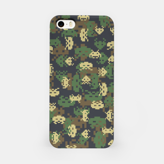 Invaded Camo WOODLAND Gamer iPhone Case thumbnail image