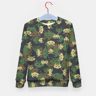 Invaded Camo WOODLAND Gamer Kid's sweater thumbnail image