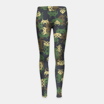 Invaded Camo WOODLAND Gamer Girl's leggings thumbnail image
