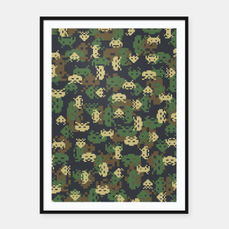Invaded Camo WOODLAND Gamer Framed poster thumbnail image