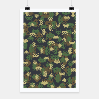 Invaded Camo WOODLAND Gamer Poster thumbnail image