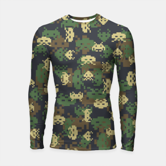 Invaded Camo WOODLAND Gamer Longsleeve rashguard  thumbnail image