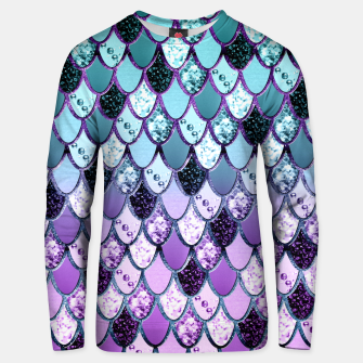 Thumbnail image of Purple Teal Mermaid Princess Glitter Scales #1 #shiny #decor #art  Unisex sweatshirt, Live Heroes