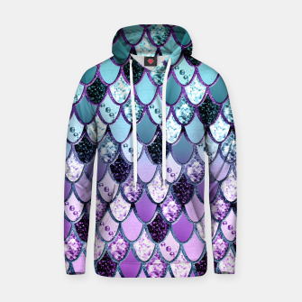 Thumbnail image of Purple Teal Mermaid Princess Glitter Scales #1 #shiny #decor #art  Kapuzenpullover, Live Heroes