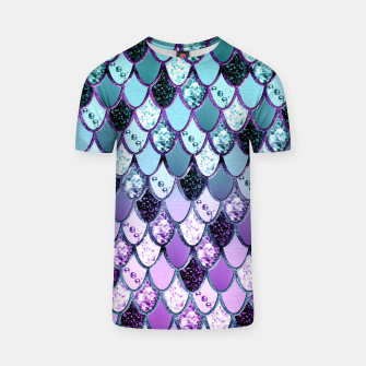 Thumbnail image of Purple Teal Mermaid Princess Glitter Scales #1 #shiny #decor #art  T-Shirt, Live Heroes
