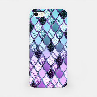 Thumbnail image of Purple Teal Mermaid Princess Glitter Scales #1 #shiny #decor #art  iPhone-Hülle, Live Heroes