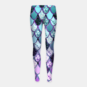 Thumbnail image of Purple Teal Mermaid Princess Glitter Scales #1 #shiny #decor #art  Kinder-Leggins, Live Heroes