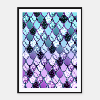 Thumbnail image of Purple Teal Mermaid Princess Glitter Scales #1 #shiny #decor #art  Plakat mit rahmen, Live Heroes