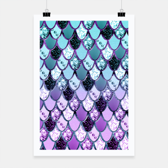 Miniaturka Purple Teal Mermaid Princess Glitter Scales #1 #shiny #decor #art  Plakat, Live Heroes