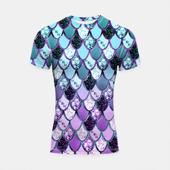 Thumbnail image of Purple Teal Mermaid Princess Glitter Scales #1 #shiny #decor #art  Shortsleeve rashguard, Live Heroes