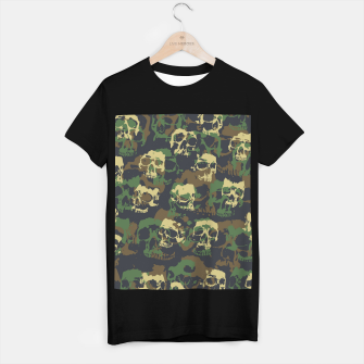 Thumbnail image of Skull Camo WOODLAND T-shirt regular, Live Heroes