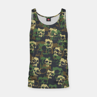 Thumbnail image of Skull Camo WOODLAND Tank Top, Live Heroes