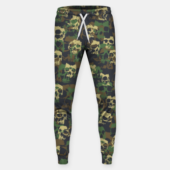 Thumbnail image of Skull Camo WOODLAND Sweatpants, Live Heroes