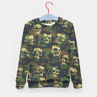 Thumbnail image of Skull Camo WOODLAND Kid's sweater, Live Heroes