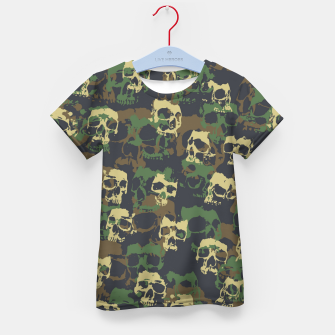 Thumbnail image of Skull Camo WOODLAND Kid's t-shirt, Live Heroes