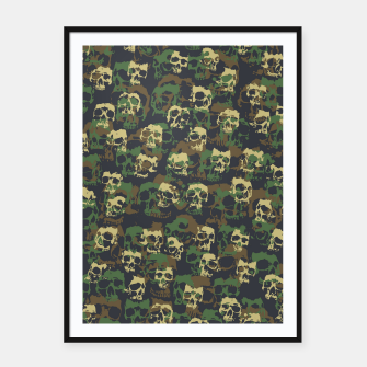 Thumbnail image of Skull Camo WOODLAND Framed poster, Live Heroes
