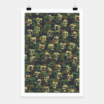 Thumbnail image of Skull Camo WOODLAND Poster, Live Heroes