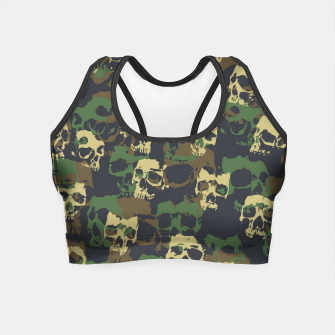 Thumbnail image of Skull Camo WOODLAND Crop Top, Live Heroes