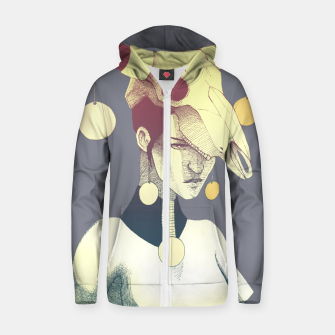Woman & Skull Zip up hoodie thumbnail image