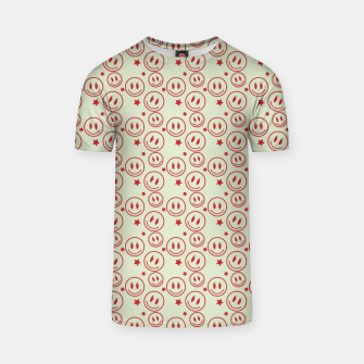 Thumbnail image of Smiley Stars pattern T-shirt, Live Heroes